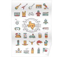 Austin Texas Essentials Poster