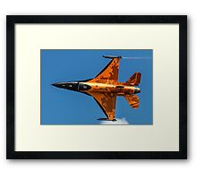 Dutch F-16 2012 Solo Demonstrator Framed Print