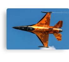 Dutch F-16 2012 Solo Demonstrator Canvas Print
