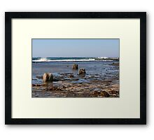 Stone Sentinels Softened Framed Print