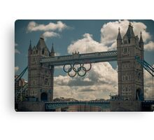 tower bridge 2012 olympics Canvas Print