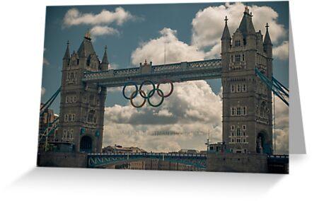 tower bridge 2012 olympics by Adam Glen