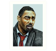 Idris Elba plays Luther Art Print