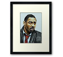 Idris Elba plays Luther Framed Print