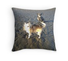 Harvey and June at Nudgee Beach Throw Pillow