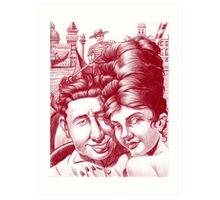 Mia moglie ed io in Venezia.  Art Print