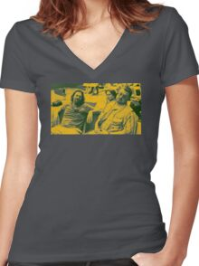 """""""The Big Lebowski 1"""" Women's Fitted V-Neck T-Shirt"""
