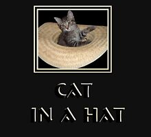 Cat in a Hat  Womens Fitted T-Shirt