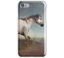 dust storm- white horse iPhone Case/Skin