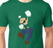 Pixelation Silhouette: Luigi Unisex T-Shirt