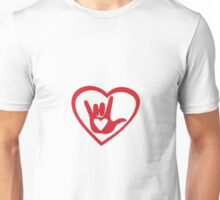 I love you with all my heart in ASL Unisex T-Shirt
