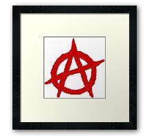 White & Red Anarchist Framed Print