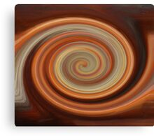 Twirled Copper  Canvas Print