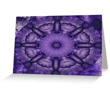 Purple Twirly  Greeting Card