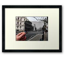 London Postcard - The Cenotaph Framed Print