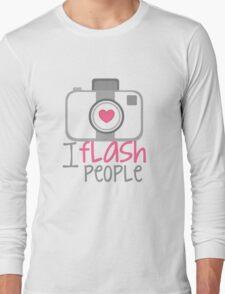 camera photographer flash Long Sleeve T-Shirt