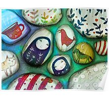 painted stones  Poster