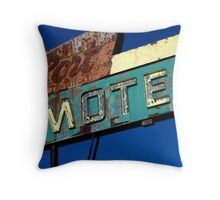 Port Motel Throw Pillow