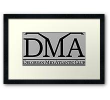 DeLorean Mid-Atlantic Official Logo Black Framed Print