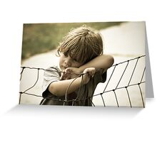 A Moment To Ponder Greeting Card