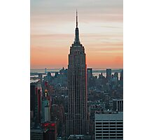 Empire State at Dusk Photographic Print
