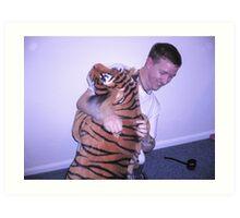 Wrestling Terry Stripe Art Print