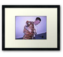 Wrestling Terry Stripe Framed Print