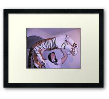 Slam Dunking Terry Stripe Framed Print