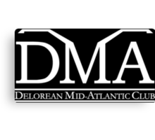 DeLorean Mid-Atlantic Official Logo White Canvas Print