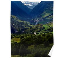 The Malaval valley and the village of la Grave Poster