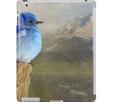 return to the high country mountain bluebird iPad Case/Skin