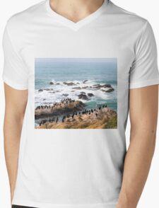 We All Can Get Along Mens V-Neck T-Shirt