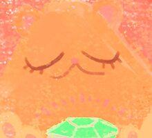 Best Luck Bear (Orange bear) by lemonflower