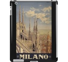 Milano' Vintage Poster (Reproduction) iPad Case/Skin