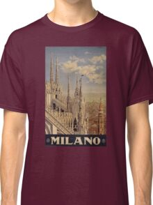 Milano' Vintage Poster (Reproduction) Classic T-Shirt