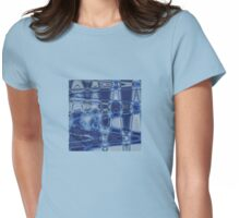 Blue Waves Womens Fitted T-Shirt