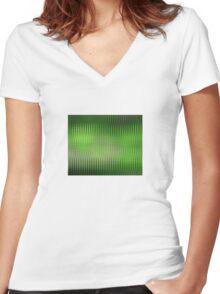 Green Zag Women's Fitted V-Neck T-Shirt