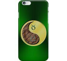 Taurus & Snake Yin Metal iPhone Case/Skin