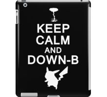 Keep Calm and Down-B Pikachu [White Print] iPad Case/Skin
