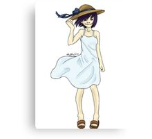 noodle in a sundress Canvas Print