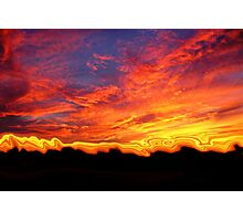 Melting Sunset Photographic Print