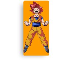 Super Saiyan God Goku Canvas Print