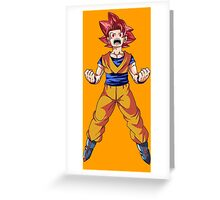 Super Saiyan God Goku Greeting Card