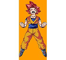 Super Saiyan God Goku Photographic Print