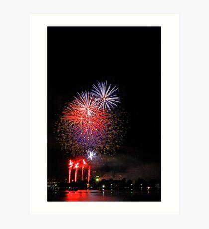 Perth New Years Eve Fireworks  Art Print