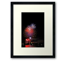 Perth New Years Eve Fireworks  Framed Print