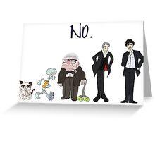 Just Say No Greeting Card