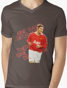 There's Only One David Beckham Mens V-Neck T-Shirt