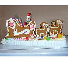 Gingerbread Santa and Reindeer Photographic Print