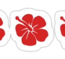 hawaiian hibiscus Sticker